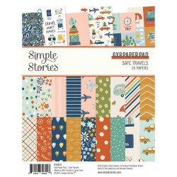"""Simple Stories Double-Sided Paper Pad - Safe Travels (6""""X8"""" 24/Pkg)"""