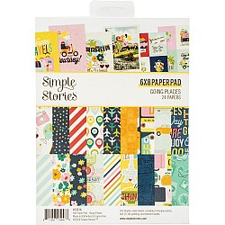"""Simple Stories Double-Sided Paper Pad - Going Places (6""""X8"""" 24/Pkg)"""