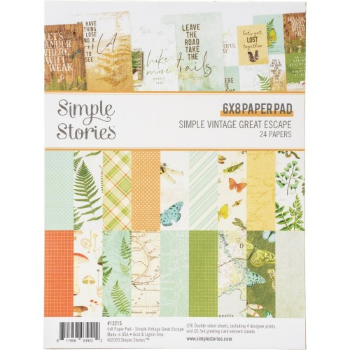 Simple Stories Double-Sided Paper Pad - Simple Vintage Great Escape (6X8 24/Pkg)