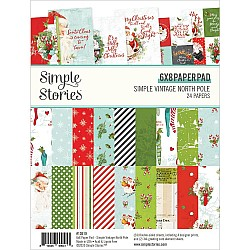 """Simple Stories Double-Sided Paper Pad - Simple VIntage North Pole (6""""X8"""" 24/Pkg)"""