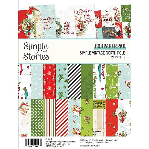Simple Stories Double-Sided Paper Pad - Simple VIntage North Pole (6X8 24/Pkg)