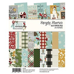"Simple Stories Double-Sided Paper Pad - Winter Farmhouse (6""X8"" 24/Pkg)"