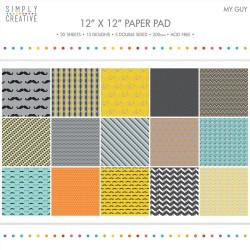 "Simply Creative Paper Pad 12""X12"" - My Guy (20/Pkg)"