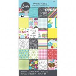 "Sizzix Paper - 6"" x 12"" Cardstock Pad, Heartfelt, 48 Sheets"