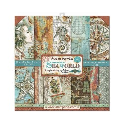 """Stamperia Double-Sided Paper Pad 8""""X8"""" 10/Pkg - Sea World"""