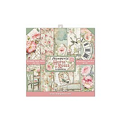 "Stamperia Double-Sided Paper Pad 8""X8"" 10/Pkg - House of Roses"