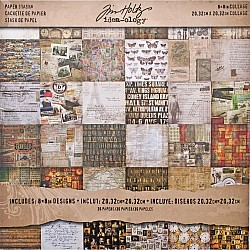 Tim Holtz Idealogy paper pad - Collage (8 by 8 inch) - 36 sheets