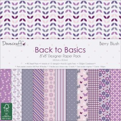 DoveCraft 8 by 8 inch Scrapbook Paper Pack - Back to Basics (48/pkg)