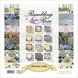 """Ultimate Crafts Double-Sided Paper Pad 12""""X12"""" 24/Pkg - Rambling Rose"""
