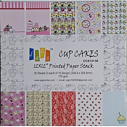 12x12 Paper Pack - Cupcakes (Set of 30 sheets)