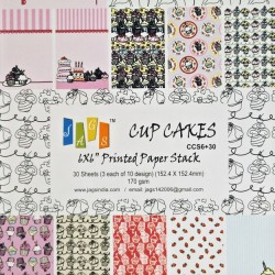 6x6 Paper Pack - Cupcakes (Set of 30 sheets)