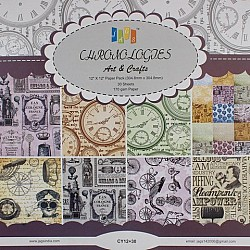 12 by 12 Paper Pack - Chronology  (Set of 30 sheets)