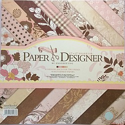 12x12 Scrapbook paper pack - Elegant Flowers Paper Stack (Set of 40 sheets)