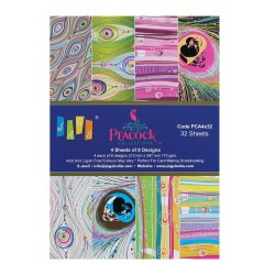 A5 Paper Pack - Peacock Collection (Set of 32 sheets)