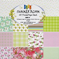 12x12 Paper Pack - Summer Bloom (Set of 36 sheets)