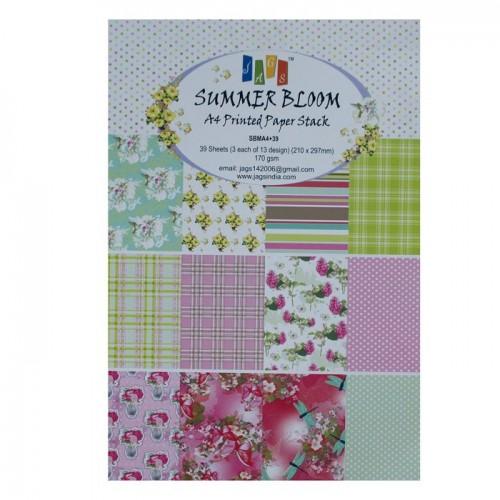 A4 Paper Pack - Summer Bloom (Set of 36 sheets)