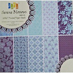 12x12 Paper Pack - Serene Blossoms (Set of 30 sheets)