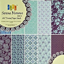 6x6 Paper Pack - Serene Blossoms (Set of 30 sheets)