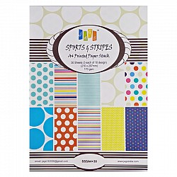 A4 Paper Pack - Sports and Stripes (Set of 30 sheets)