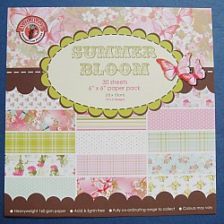 Assorted 6x6 Paper Pack - Summer Bloom (Set of 30 sheets)
