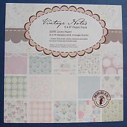Assorted 6x6 Paper Pack - Vintage Notes (Set of 30 sheets)