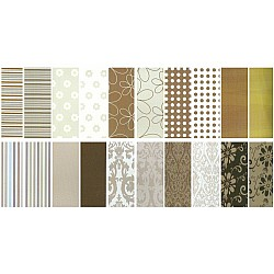 Assorted 12x12 Paper Pack - W&M Brown (Set of 40 sheets)