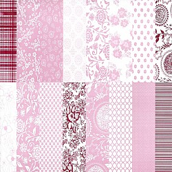 Assorted 6x6 Paper Pack - Capsule Collection - Pink (Set of 32 sheets)