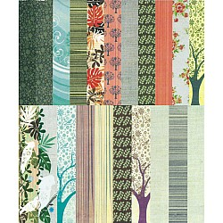 Assorted 6x6 Paper Pack - Bird Songs (Set of 46 sheets)