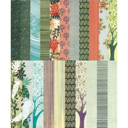 Assorted 12x12 Paper Pack - Bird Songs (Set of 46 sheets)