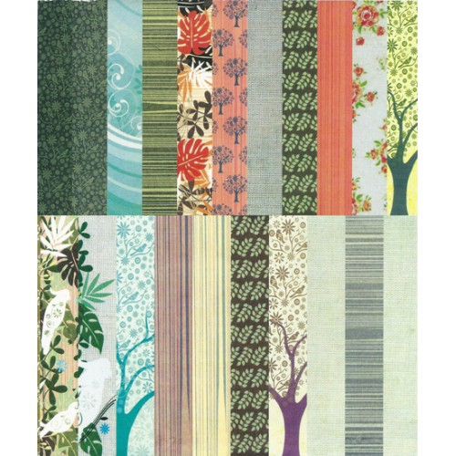Assorted A5 Paper Pack - Bird Songs (Set of 46 sheets)
