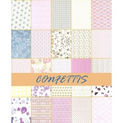 Assorted 6x6 Paper Pack - Confetties (Set of 50 sheets)