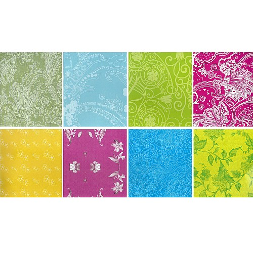 Assorted 6x6 Paper Pack - Floral Green (Set of 24 sheets)