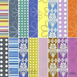 Assorted 6x6 Paper Pack - Floral Purple (Set of 32 sheets)