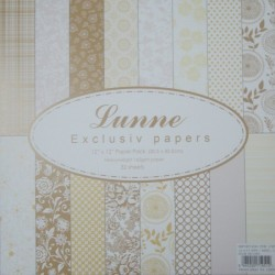 Assorted 12x12 Lunne Paper Pack - Yellow (Set of 32 sheets)