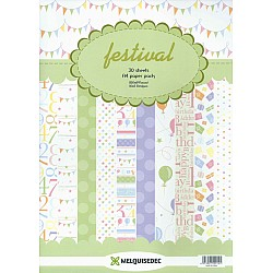 Assorted A4 Paper Pack - Festival (Set of 30 sheets)