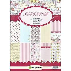 Assorted A4 Paper Pack - Icecream (Set of 30 sheets)