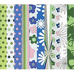 Assorted 12x12 Paper Pack - Spring Back (Set of 40 sheets)
