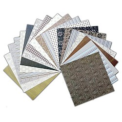 Assorted 6x6 Paper Pack - W&M Brown (Set of 40 sheets)