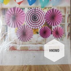 Paper Fan Decorations (Party Essentials) - Pink Fans