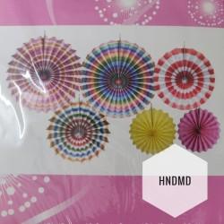 Paper Fan Decorations (Party Essentials) - Colorful Fans