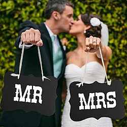 Mr and Mrs Photo Prop