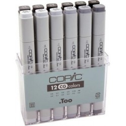 Copic Cool Grey Marker - Set of 12 Markers
