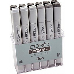 Copic Neutral Grey Marker - Set of 12 Markers