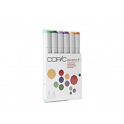 Copic 6pc Sketch Markers Set - Secondary Tones