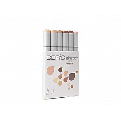 Copic 6pc Sketch Markers Set - Skin Tones