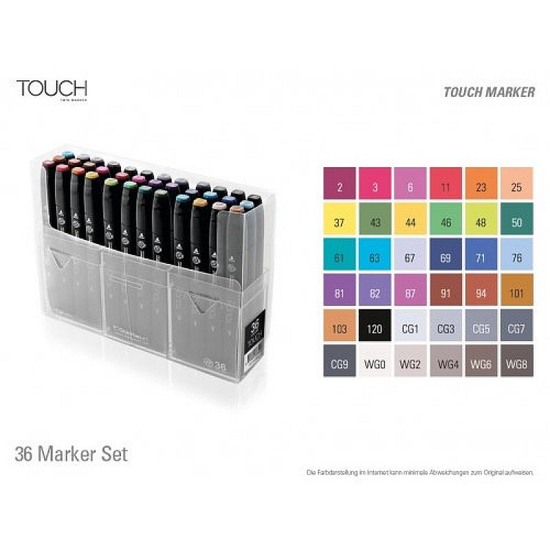 buy shinhan touch marker 36 color set online in india at