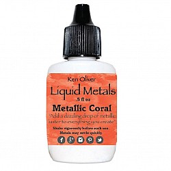 Ken Oliver Color Burst Liquid Metal 6gm - Metallic Coral