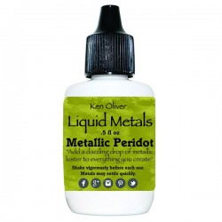 Ken Oliver Color Burst Liquid Metal 6gm - Metallic Peridot