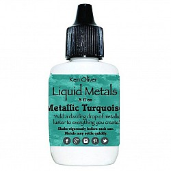 Ken Oliver Color Burst Liquid Metal 6gm - Metallic Turquoise