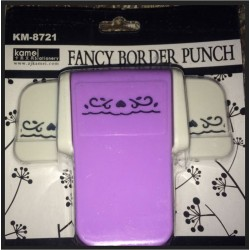 Kamei Border Punch - Hearts and Swirls